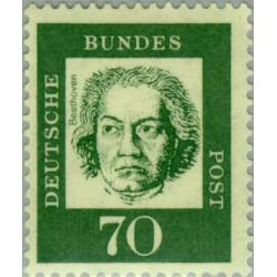 1 عدد تمبر از سری پستی مشاهیر -  70 - جمهوری فدرال آلمان 1961