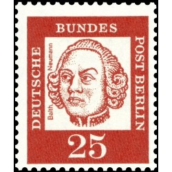 1 عدد تمبر از سری پستی مشاهیر  - 25 - برلین آلمان 1961