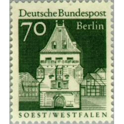 1 عدد تمبر سری پستی - بناهای قرن دوازدهم -  70 فنیک - برلین آلمان 1966