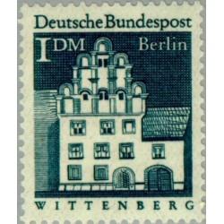 1 عدد تمبر سری پستی - بناهای قرن دوازدهم -  1 مارک  - برلین آلمان 1966