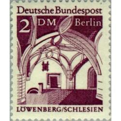 1 عدد تمبر سری پستی - بناهای قرن دوازدهم -  2 مارک  - برلین آلمان 1966