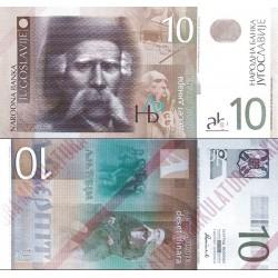 اسکناس 10 دینار - یوگوسلاوی 2000
