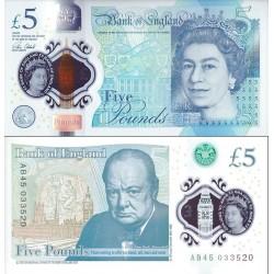 اسکناس پلیمر 5 پوند  - انگلیس 2015
