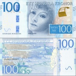 اسکناس 100 کرون - سوئد 2016 سفارشی - توضیحات را ببینید