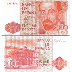 اسکناس 2000 پزوتا - اسپانیا 1980 سفارشی - توضیحات را ببینید