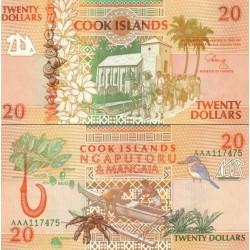 اسکناس 20 دلار - جزایر کوک 1992 ارزش ارزی معادل 13 دلار