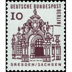1 عدد تمبر سری پستی - ساختمانهای قرن دوازدهم آلمان - 10 فنیک -برلین آلمان 1964