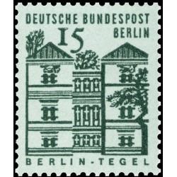 1 عدد تمبر سری پستی - ساختمانهای قرن دوازدهم آلمان - 15 فنیک -برلین آلمان 1964
