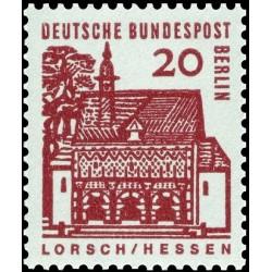 1 عدد تمبر سری پستی - ساختمانهای قرن دوازدهم آلمان - 20 فنیک -برلین آلمان 1964