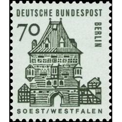 1 عدد تمبر سری پستی - ساختمانهای قرن دوازدهم آلمان - 70 فنیک -برلین آلمان 1964