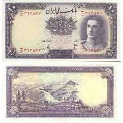 091 - اسکناس 10 ریال ابوالحسن ابتهاج - علی بامداد 1323 - تک