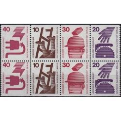 8 عدد تمبر سری پستی - پیشگیری از حوادث - بوکلت - برلین آلمان 1971