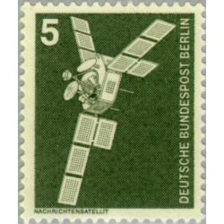 1 عدد تمبر سری پستی - صنایع و تکنیک - 5 فنیک - برلین آلمان 1975