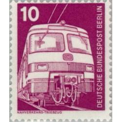 1 عدد تمبر سری پستی - صنایع و تکنیک - 10 فنیک - برلین آلمان 1975