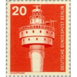 1 عدد تمبر سری پستی - صنایع و تکنیک - 20 فنیک - برلین آلمان 1975
