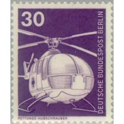 1 عدد تمبر سری پستی - صنایع و تکنیک - 30 فنیک - برلین آلمان 1975