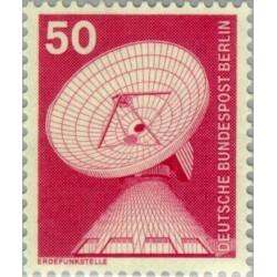 1 عدد تمبر سری پستی - صنایع و تکنیک - 50 فنیک - برلین آلمان 1975