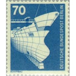 1 عدد تمبر سری پستی - صنایع و تکنیک - 70 فنیک - برلین آلمان 1975
