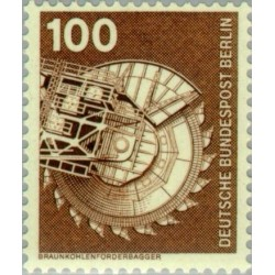 1 عدد تمبر سری پستی - صنایع و تکنیک - 100 فنیک - برلین آلمان 1975
