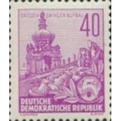 1 عدد تمبر سری پستی - برنامه 5 ساله - 40 فنیک - جمهوری دموکراتیک آلمان 1957