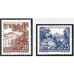 2 عدد تمبر سری پستی - مناظر - جمهوری دموکراتیک آلمان 1961