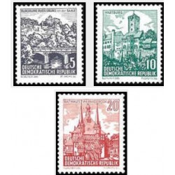 3 عدد تمبر سری پستی - مناظر - جمهوری دموکراتیک آلمان 1961