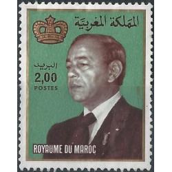 1 عدد تمبر سری پستی -شاه حسن دوم - 2 درهم - مراکش 1983