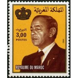 1 عدد تمبر سری پستی -شاه حسن دوم - 3 درهم - مراکش 1983