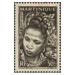 1 عدد تمبر سری پستی -50 سنت - مارتینیک 1947