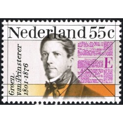 1 عدد تمبر یادبود گیلم گرون ون پرینستر - سیاستمدار و استاد  - هلند 1976