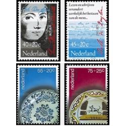 4 عدد تمبر رفاه اجتماعی - خیریه  - هلند 1978
