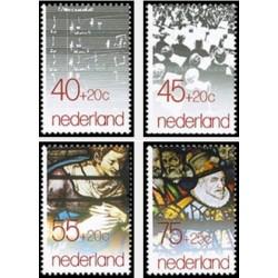 4 عدد تمبر تابستانی - خیریه  - هلند 1979