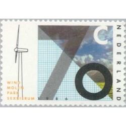 1 عدد تمبر انرژی باد - نصب و راه اندازی آزمایشی - هلند 1986