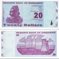 اسکناس 20 دلاری - زیمباوه 2009
