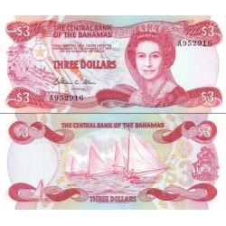 اسکناس 3 دلار - باهاماس 1984
