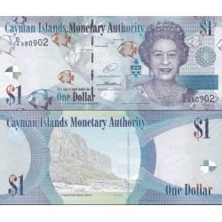 اسکناس 1 دلار - جزایر کایمن 2014 پرفیکس سریال D/4