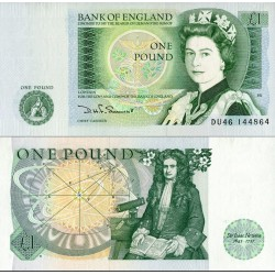 اسکناس 1 پوند - انگلیس 1984