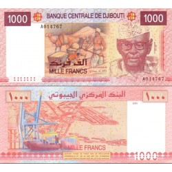 اسکناس 1000 فرانک - جیبوتی 2005
