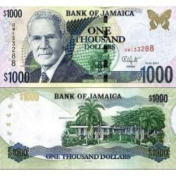 اسکناس 1000 دلار - جامائیکا 2011