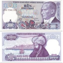 اسکناس 1000 لیر - ترکیه 1970 سری F-I, J(01-74)