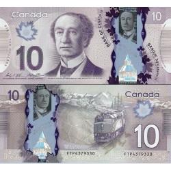 اسکناس پلیمر 10 دلار - کانادا 2013
