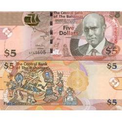 اسکناس 5 دلار - باهاماس 2013