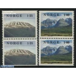2 جفت تمبر مناظر  - جفت بوکلت - نروژ 1978