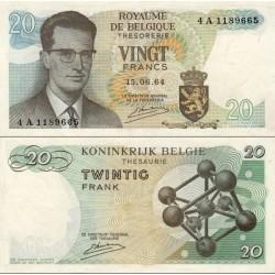اسکناس 20 فرانک - بلژیک 1964