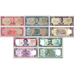 ست  کامل - اسکناسهای 5,10,20,50,100 دلار - لیبریا 2011