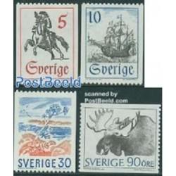 4 عدد تمبر سری پستی - سوئد 1967
