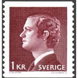 1 عدد تمبر سری پستی - پادشاه کارل گوستاو شانزدهم - سوئد 1974