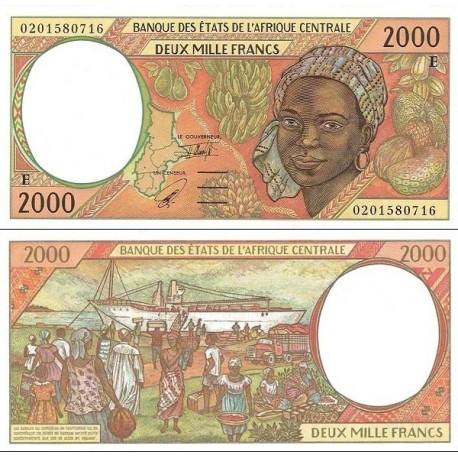 اسکناس 2000 فرانک سری E - کامرون 2002 - آفریقای مرکزی 2002 دو رقم اول سریال سال انتشار