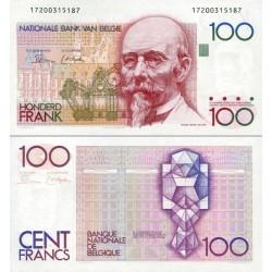 اسکناس 100 فرانک - بلژیک 1982 امضا در جلو و پشت