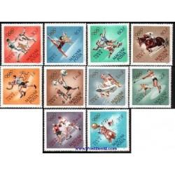 10 عدد تمبر المپیک توکیو - مجارستان 1964
